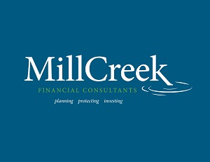 MillCreek logo blue background web